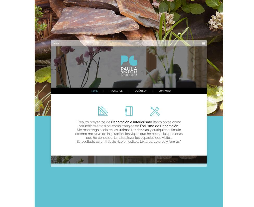 Paula González Interiorista web home