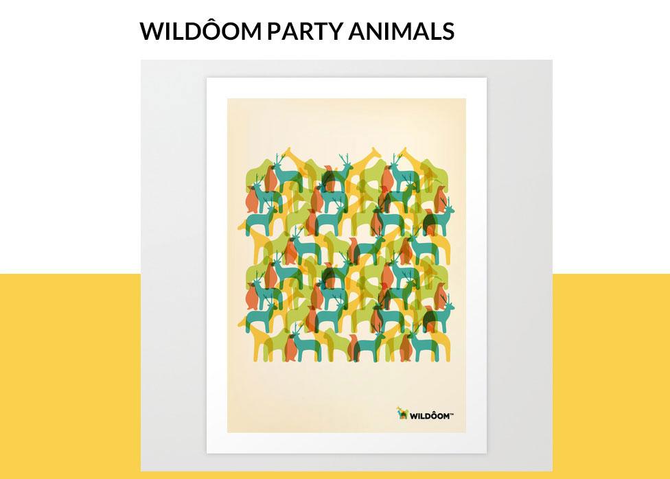 wildôom society6 poster party animals