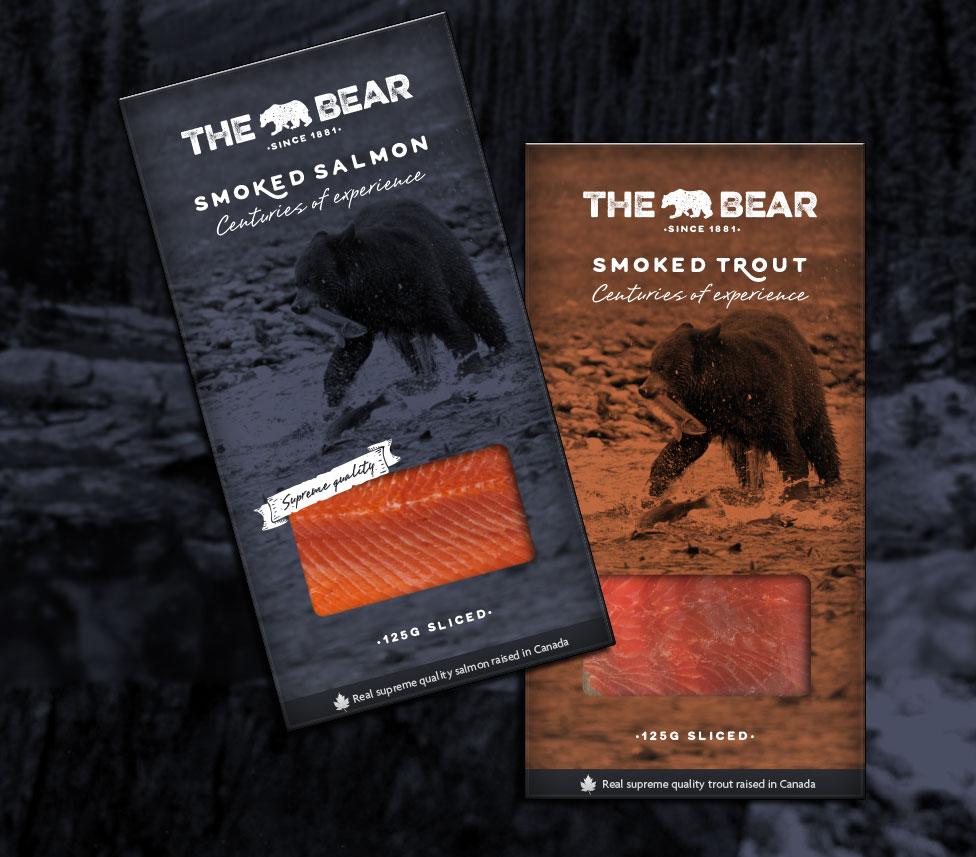 The Bear packs salmón y trucha